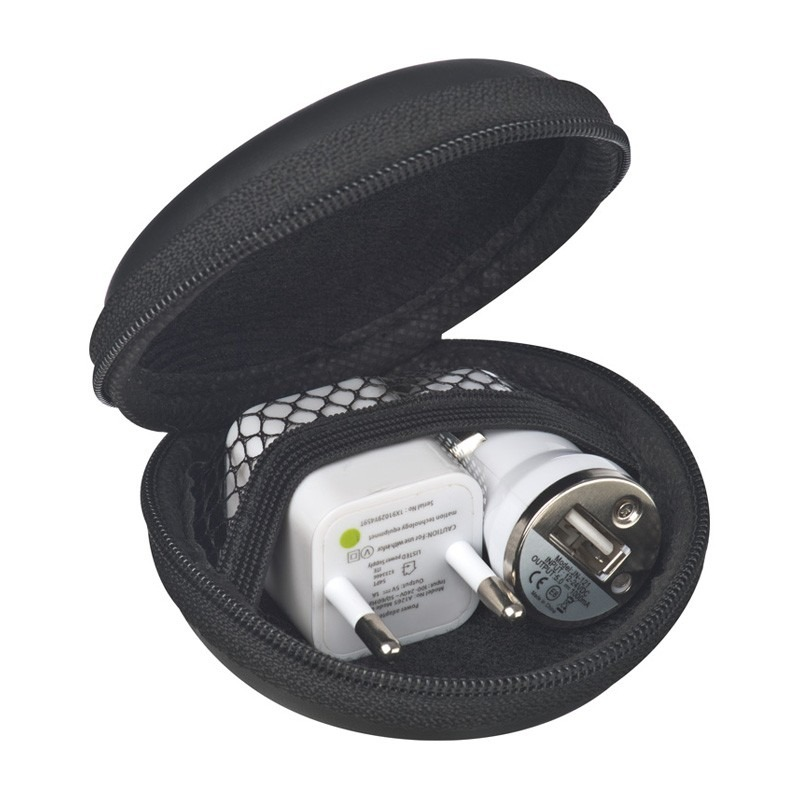 Travel Set mit EU Stecker/USB Charger bedrucken