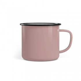 Emaille Tasse Promo 8 cm Pink Up Your Life pink