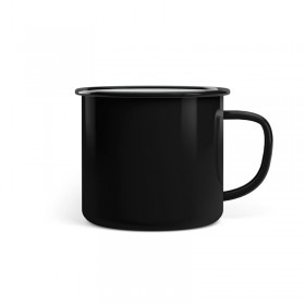 Emaille Tasse Promo 8 cm Black Magic schwarz